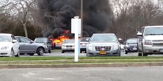Американец сжег автомобиль, пытаясь избавиться от клопов в салоне