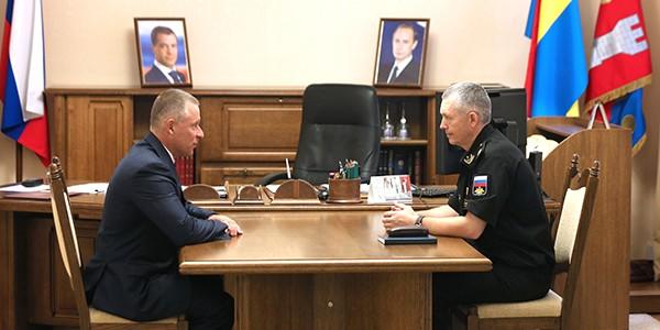 Глава Калининградской области встретился с врио командующего Балтфлотом