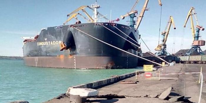 Судно с углем из США повредило порт под Одессой