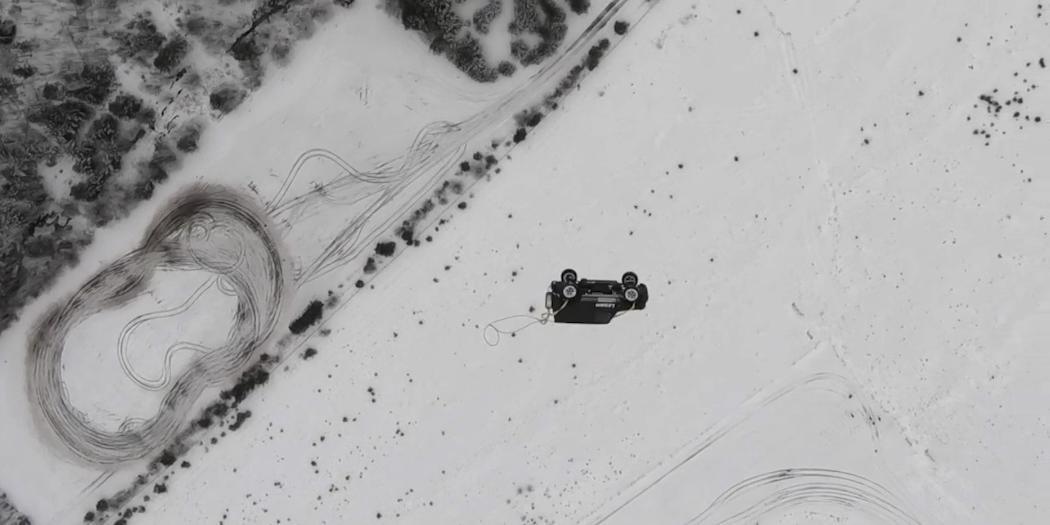 В Карелии москвич на спор сбросил с вертолета Gelandewagen
