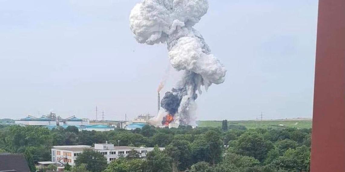 В Германии произошел мощный взрыв на химическом заводе Bayer
