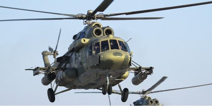 Ми-8 Тихоокеанского флота впервые совершил перелет на 9 тысяч километров