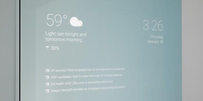 Инженер Google создал «умное» зеркало в собственной ванной