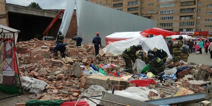 В подмосковной Балашихе обрушился кинотеатр, пострадали три человека