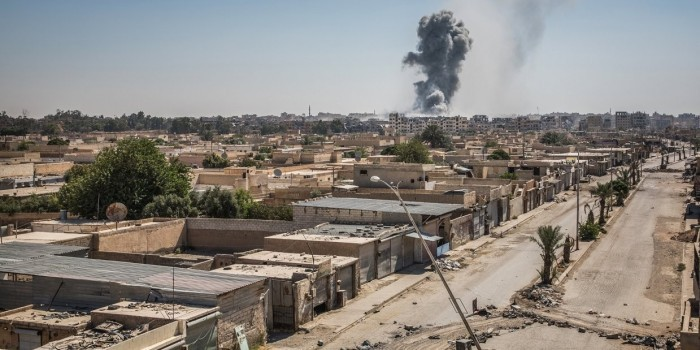 Коалиция США сбросила фосфорные бомбы на госпиталь в Ракке