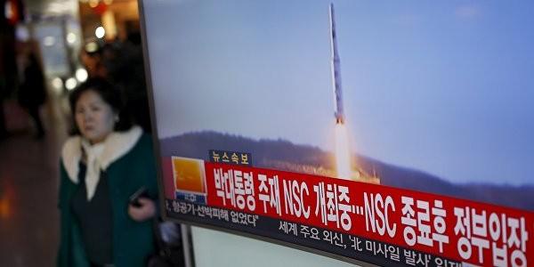 Ракета КНДР упала в 500 км от российской границы