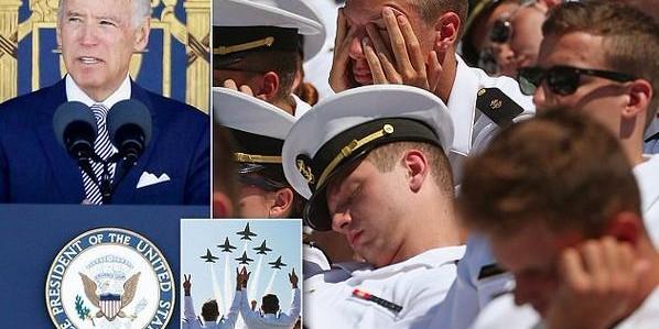 Речь Джо Байдена усыпила выпускников Военно-морской академии