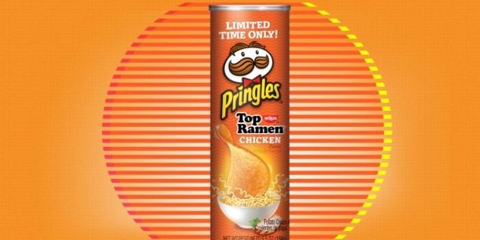 Pringles выпустили чипсы со вкусом лапши быстрого приготовления