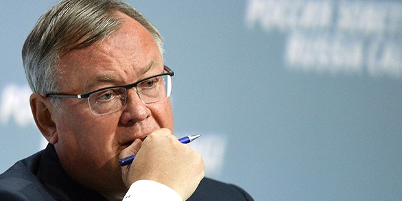 Костин рассказал о звонках Госдепа в финансовые компании из-за размещения еврооблигаций России