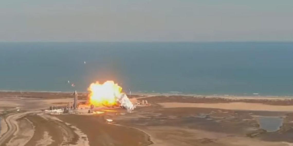 Взрыв прототипа ракеты SpaceX на испытаниях попал на видео
