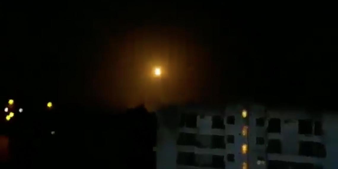 Отражение ракетной атаки в Дамаске сняли на видео