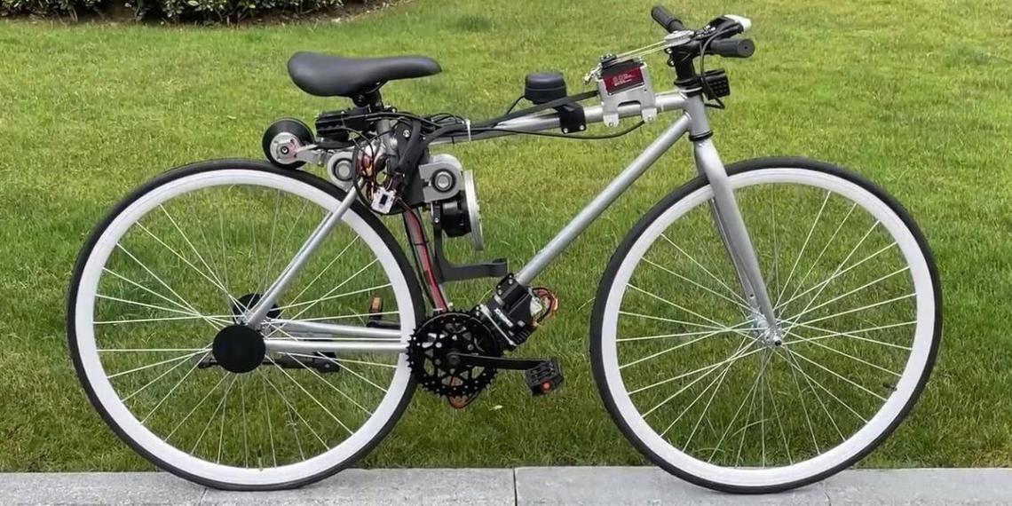 Huawei разработала беспилотный велосипед