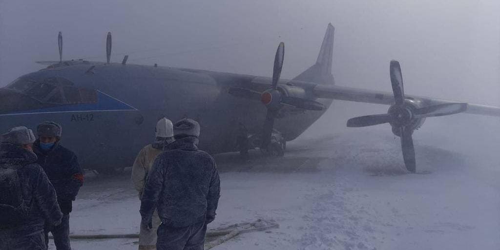На Курилах засняли на видео последствия аварии при посадке Ан-12