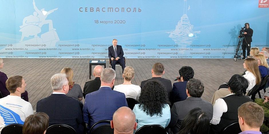 Путин о всероссийском голосовании: на первом плане остаются жизнь и здоровье граждан