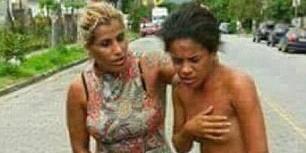 В Бразилии женщина провела любовницу мужа голышом по улице