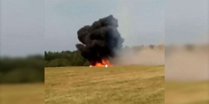 Появилось видео крушения самолета в Подмосковье