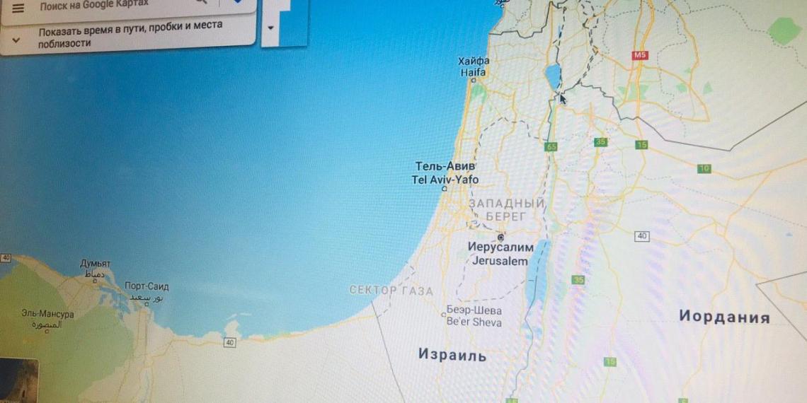 Google-карты перестали показывать государство Палестина