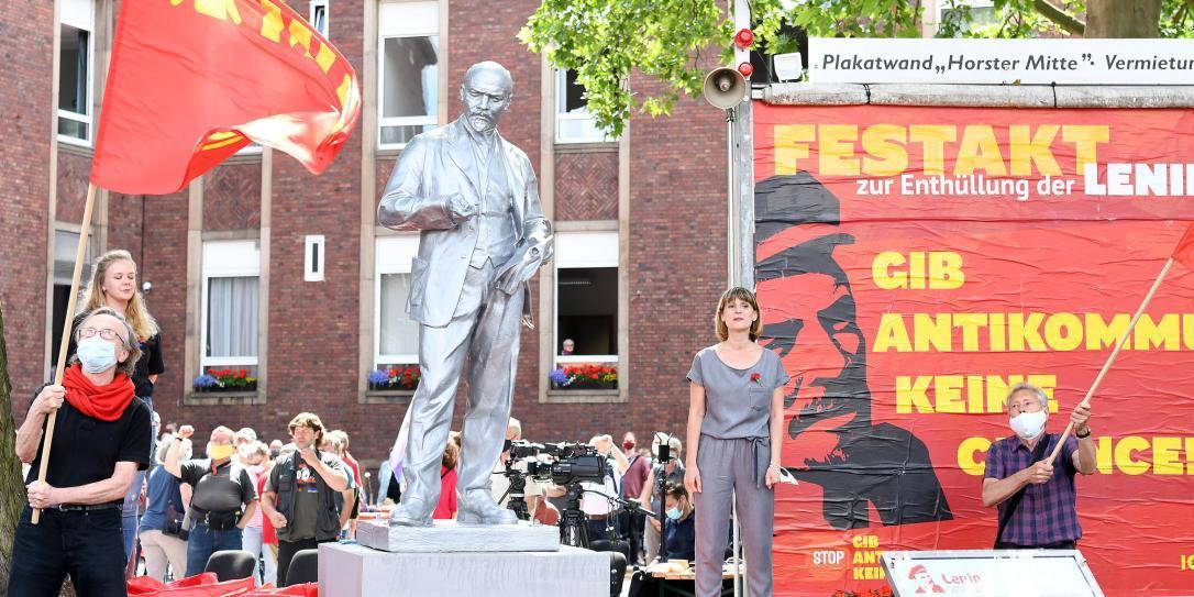 В западной Германии впервые установили памятник Ленину