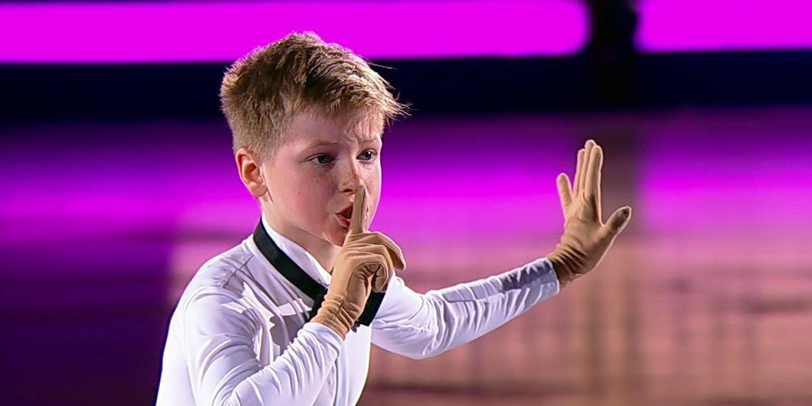 12-летний российский фигурист тренирует прыжки в 5 оборотов