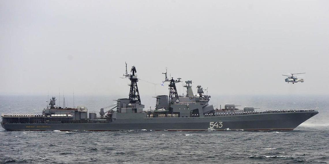 Корабли ВМФ России провели учения у границы США