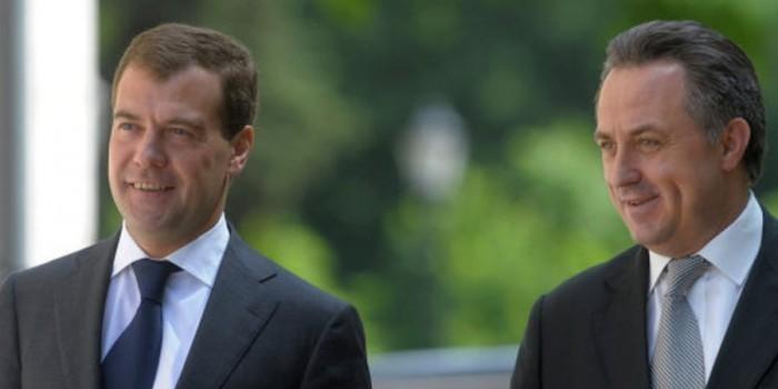 "Медведев представил Мутко коллегам фразой ""лет ми спик фром май харт"""