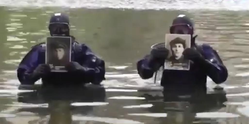 Орловские водолазы прошли с портретами ветеранов ВОВ по дну Оки