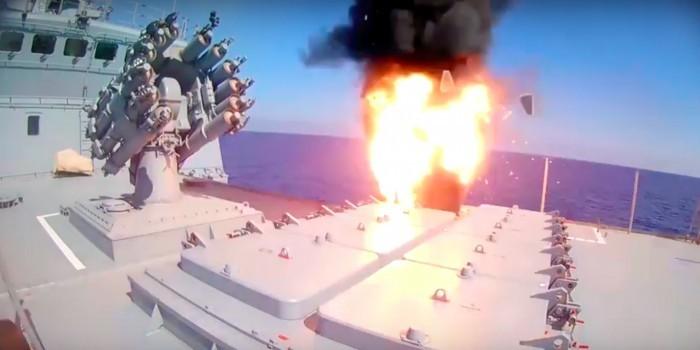 Опубликовано видео пусков крылатых ракет по объектам ИГ у Пальмиры