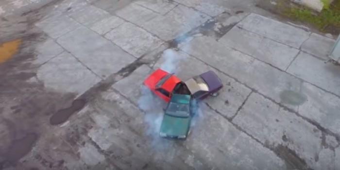 """Видео дня: умельцы сварили спиннер из трех """"Жигулей"""""""