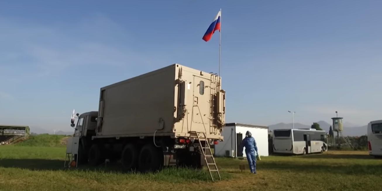 Российские военные показали работу лаборатории на авиабазе в Италии