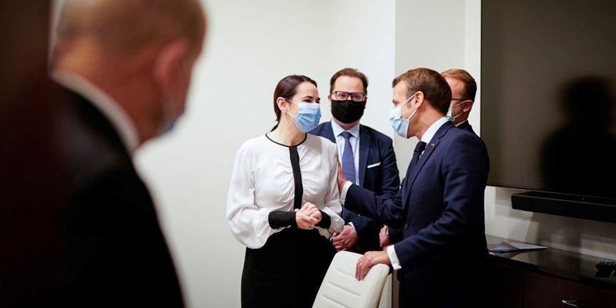 Тихановская начала формировать теневое правительство Белоруссии после встречи с Макроном