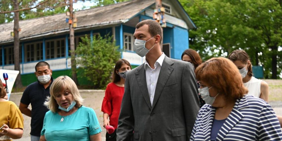 """Дегтярев проверил готовность к открытию детского лагеря """"Океан"""""""