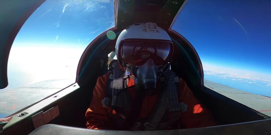 Минобороны опубликовало видео боя МиГ-31 в стратосфере