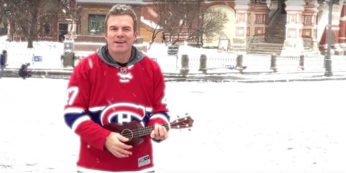 Известный канадский музыкант спел песню на Красной площади в честь российского хоккеиста