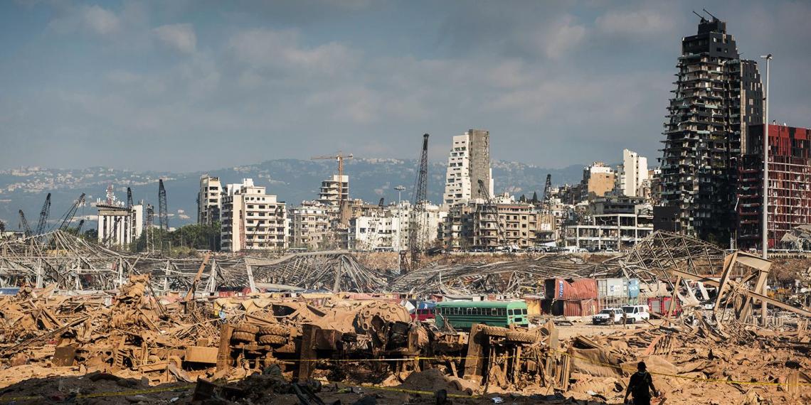 Астронавт выложил с борта МКС снимок разрушенного взрывом Бейрута