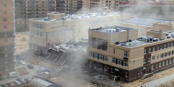 В Ленинградской области обрушилась крыша строящейся школы