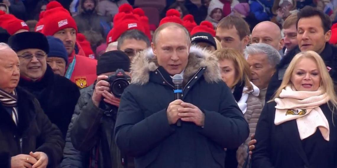 """Путин призвал россиян сделать все, чтобы XXI век прошел """"под знаком наших ярких побед"""""""