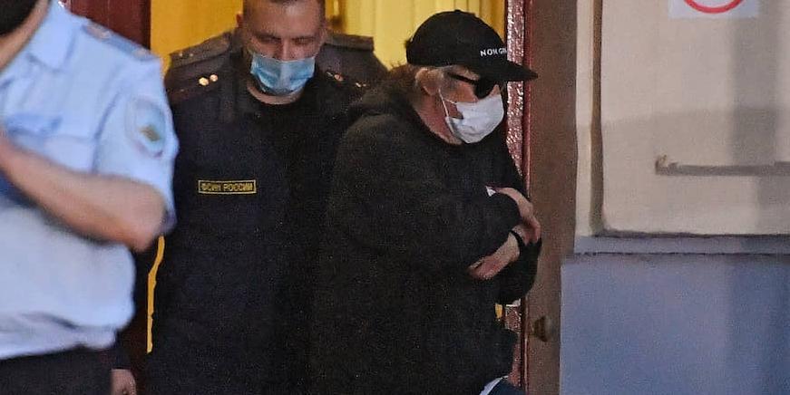 Журналисты засняли, как Ефремова на руках занесли в суд под вопли Джигурды