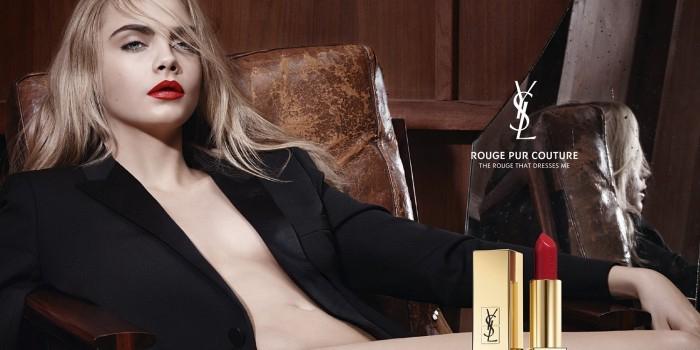 Модель Кара Делевинь разделась в рекламе губной помады (ВИДЕО)