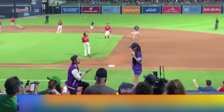 Девушка опозорила спортсмена, сделавшего ей предложение прямо во время матча