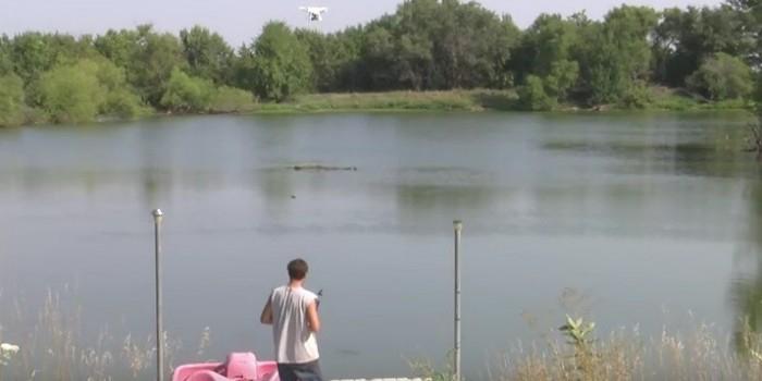 Американец, наловивший рыбы с помощью дрона, стал звездой YouTube (ВИДЕО)