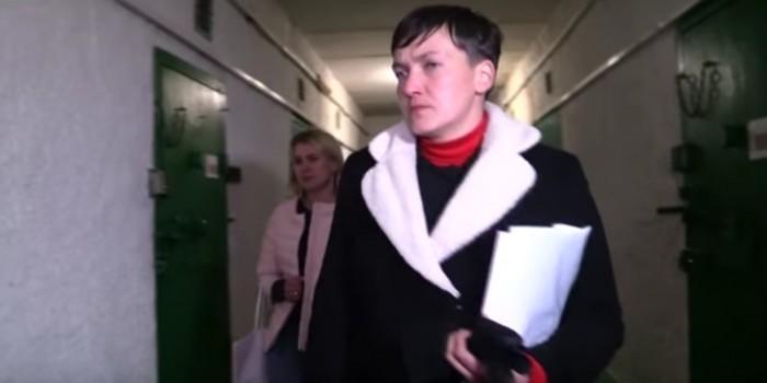 Опубликовано видео визита Савченко в ДНР