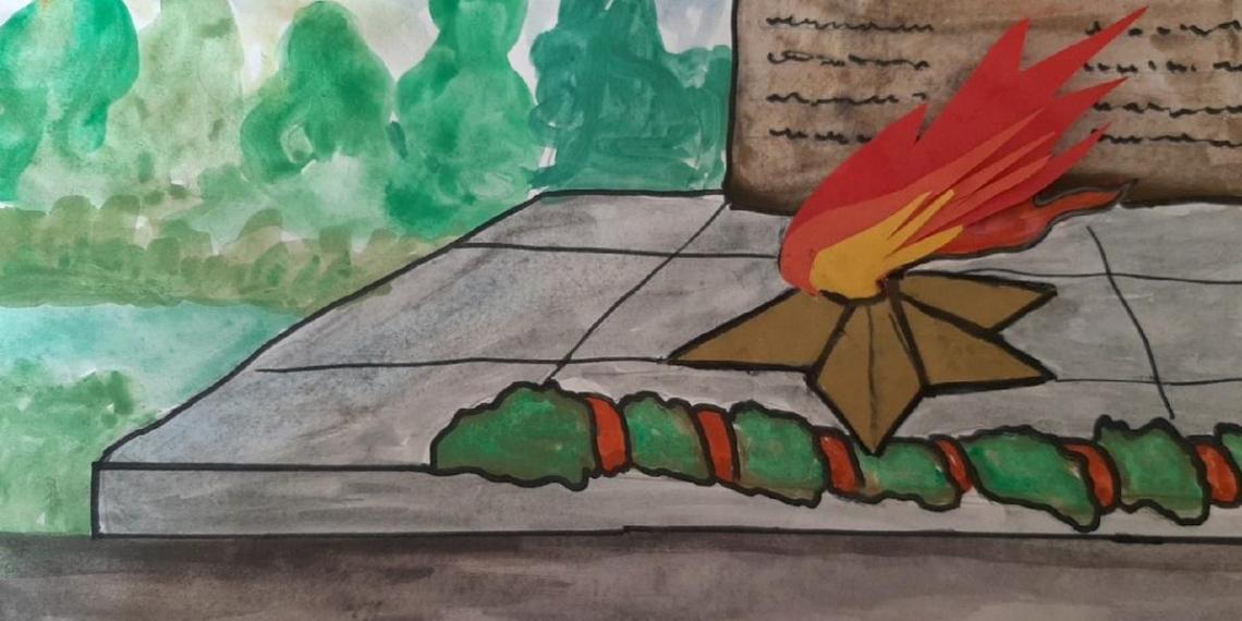 Более 20 тысяч российских семей с детьми нарисовали Вечный огонь