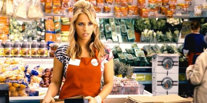 Встреча порно звезды в супермаркете