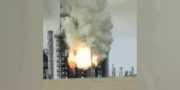 Опубликованы кадры взрыва на нефтеперерабатывающем заводе в Хабаровском крае