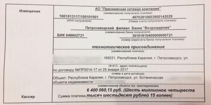 Петрозаводчанке пришел счет за электричество на 6 миллионов рублей
