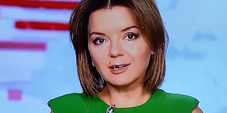 Ведущая украинского телеканала лишилась зуба в прямом эфире