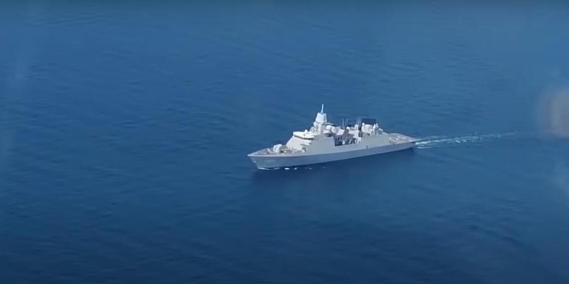 Попытку нарушения границы РФ голландским фрегатом сняли с самолета