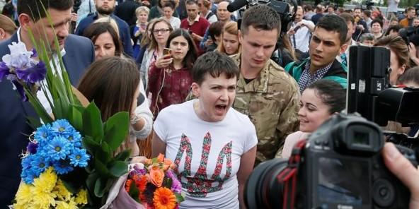 Опубликовано видео выступления Савченко в аэропорту Борисполя