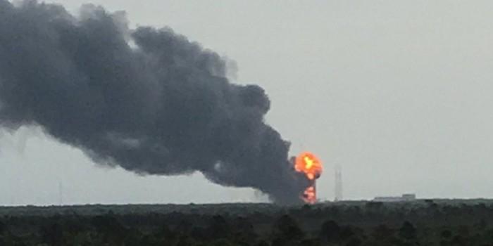 Ракета-носитель SpaceX взорвалась на стартовой площадке