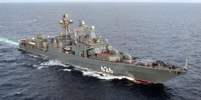 Российский военный корабль спас экипаж украинского рыболовецкого судна